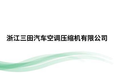 浙江三田汽车空调压缩机有限公司